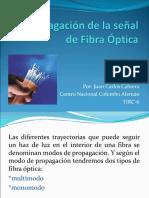 Propagación de La Señal de Fibra Óptica