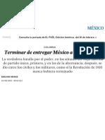 Terminar de Entregar México a Los Militares _ Internacional _ EL PAÍS