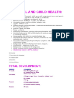Maternal and Child Health Notes