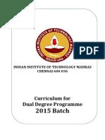DualDegree Curriculum 2015