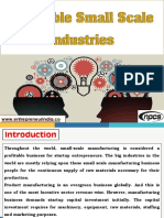 Profitable Small Scale Industries