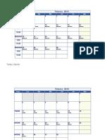 Calendario Para Llenar 2019
