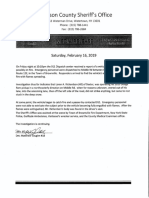 Jefferson County Sheriff's Office Feb. 16, 2019