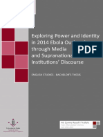 Exploring power and identity in 2014 Ebola Outbreak through media and Supranational Institutions' Discourse