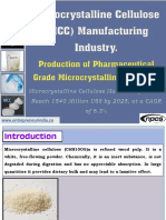 Microcrystalline Cellulose (MCC) Manufacturing Industry