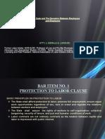 LAbor BAR ITEM (Lecture)