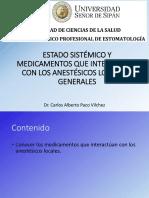 Mediacamentos Que Interactuan Con Los Anestésicos Locales-Dr Paco