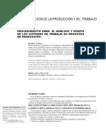 Deseño y Analisis de Presesos de Trabajp