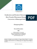 Gasification and Pyrolysis Characterization