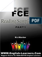 FCE Reading Sample Tests