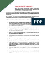 Resumen de Informe Económico