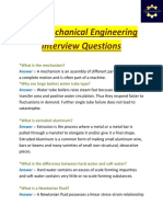 50+ mechanical engineering interview questions