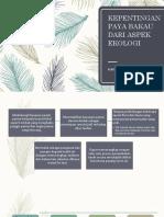 Kepentingan Paya Bakau Dari Aspek Ekologi