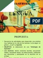 LENGUA - ESCUELAS RURALES