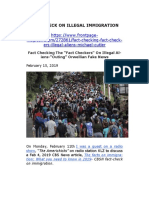 Fact Check on Illegal Immigration