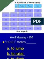 Jeopardy Hunch