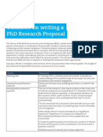 Guidance on Writing a PhD Research Proposal