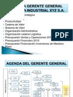 Agenda Gerente General de una Industria