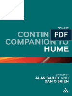 The Continuum Companion to Hume (2012, Bloomsbury Academic)