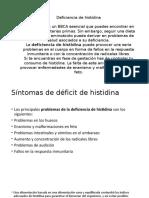 Deficiencia de Histidina
