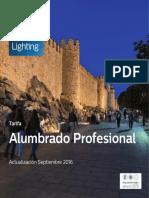 Philips Tarifa Alumbrado Profesional, Actualización Septiembre 2016