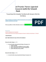 Evidence Based Practice Nurses Appraisal Application Research 2ndEd by Schmidt Brown – Test Bank