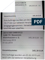 Mietzahlungen an Den Bauverein Rheinhausen e. G. - Hartung 2019 Und Hornung 2019