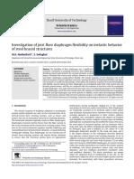 Investigation of Joist Floor Diaphragm Flexibility on Inelastic Behavior of Steel Braced Structures