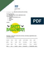 Activity Sheet   Grade 3   Halloween Alphabetical Order