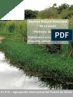 AREA  PROTEGIDA RESERVA MUNICIPAL LA LUCILA Y HUMEDAL DE JUNCALES