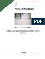 ADECUACIÓN DE ALCANTARILLA EN EL SECTOR LA PLACA, PARROQUIA QUIRIQUIRE, MUNICIPIO PUNCERES, ESTADO MONAGAS