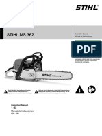 STIHL MS 362 Owners Instruction Manual