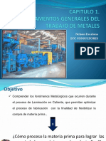 Curso de Laminación Inca Capitulo 1 Fundamentos Generales Del Trabajo de Metales