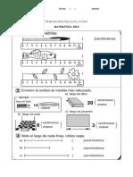 Evaluación de matemática segundo grado