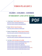 VIDEO PLAYLIST 2 - EVERGREENS AND LOVE SONGS