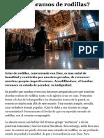 ¿Por qué oramos de rodillas? | Doxologia.org