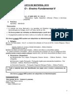 Lista de Material 2019 - 9_ Ano EFII