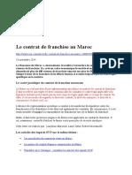 Le Contrat de Franchise Au Maroc