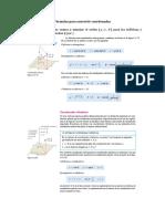 Fórmulas para convertir coordenadas