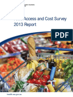 Food Access and Cost Survey Report 2013 Report