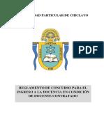 Reglamento Para Ingreso a La Docencia - Udch