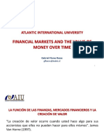 Los mercados financieros y el valor del dinero a través del tiempo