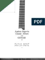 A.segovia - Classic Album for Guitar Vol.07 - Ongaku No Tomo Edition