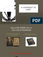 a contrast of laws