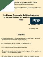 La Nueva Economia y Productividad en AL y Peru-CIP-CIME- 18 Dic. 2018