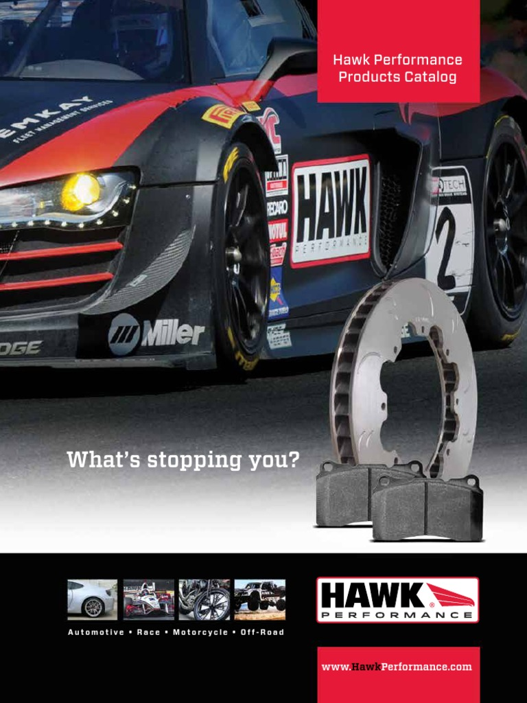 Rear Set Hawk HB456F.705 HPS High Performance Street Brake Pads