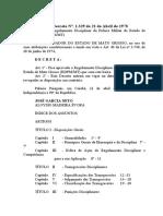 Decreto 1.329 - Regulamento Disciplinar Da PMMT e CBMMT