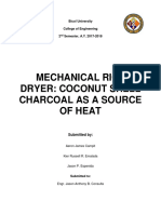 Rice Dryer Coconut Shell Charcoal as a Source of Heat