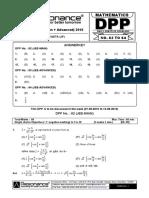 XII Maths DPP (28) - Prev Chaps - Complex Number