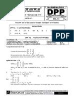 XII Maths DPP (33) - Prev Chaps - Determinant&Matrices